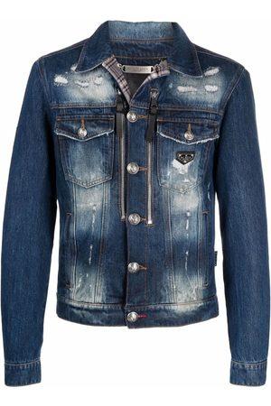 Philipp Plein Distressed-effect denim jacket
