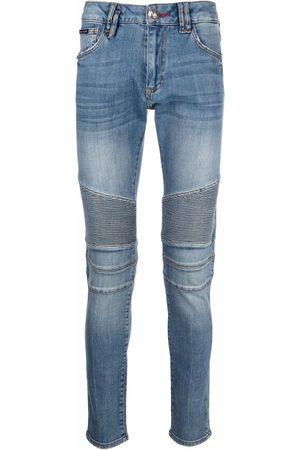 Philipp Plein Men Skinny - Slim-fit biker-style jeans