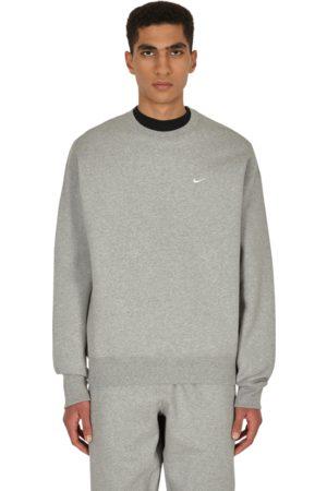 Nike Men Sweatshirts - Nrg solo swoosh crewneck sweatshirt DK GREY HEATHER/ XS