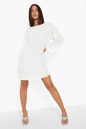Boohoo Womens Long Sleeve Low Back Tassel Mini Dress - - 4