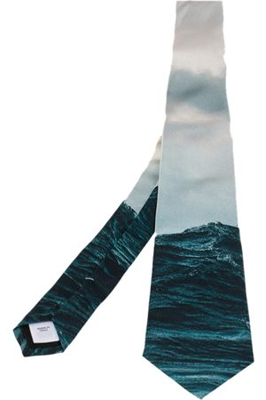 Burberry Deep Teal Sea Printed Manston Narrow Silk Tie