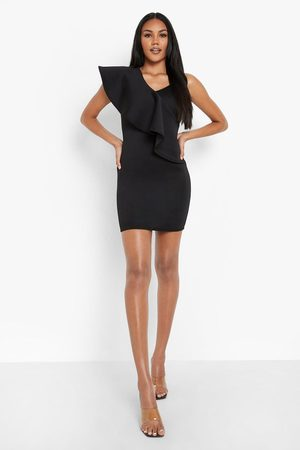 Boohoo Womens Frill Shoulder Bodycon Mini Dress - - 4