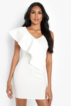 Boohoo Women Bodycon Dresses - Womens Frill Shoulder Bodycon Mini Dress - - 4