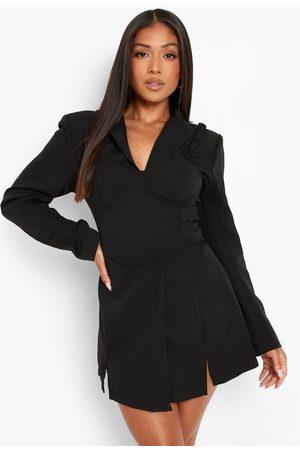 Boohoo Womens Petite Blazer And Bralet Mini Dress - - 4