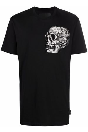 Philipp Plein Stones Skull-print short-sleeve T-shirt