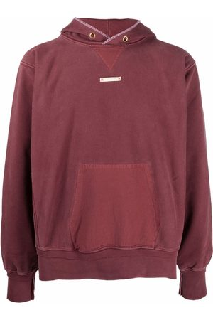 Maison Margiela Men Long sleeves - Patch-detail long-sleeve hoodie