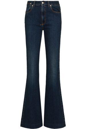 Alexander McQueen Women High Waisted - High-rise flared jeans