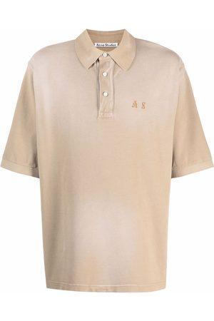 Acne Studios Logo-embroidered polo shirt