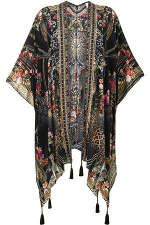 Camilla Women Ponchos & Capes - Square Draped Layer Gothic Goddess silk cape