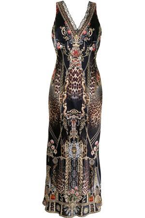 Camilla Women Casual Dresses - Gothic Goddess silk slip dress
