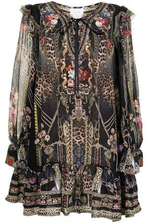 Camilla Women Party Dresses - Gothic Goddess silk mini dress
