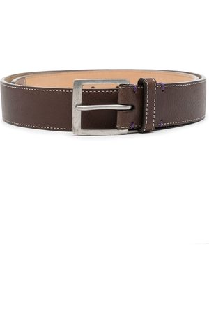 PAUL SMITH Contrast-stitching leather belt