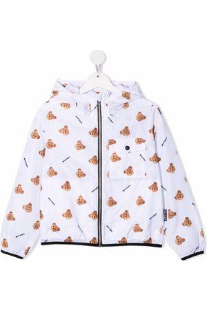 Palm Angels Kids Girls Rainwear - Bear-motif windbreaker