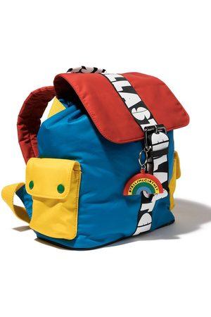 Stella McCartney Colour-block logo strap backpack