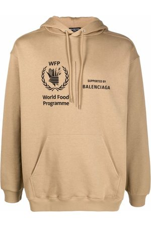 Balenciaga Men Hoodies - Logo-print hoodie