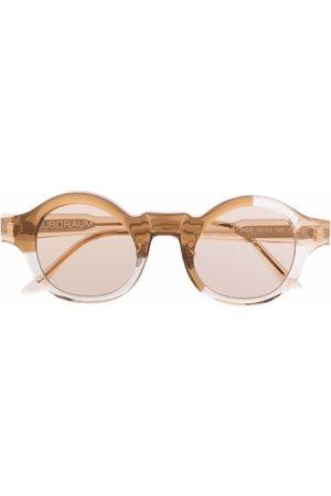 Kuboraum L4 round-frame sunglasses - Neutrals