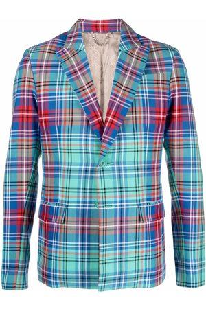Charles Jeffrey Loverboy Blazers - Single-breasted tartan blazer