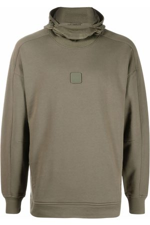 C.P. Company Logo-patch fleece hoodie - Grey