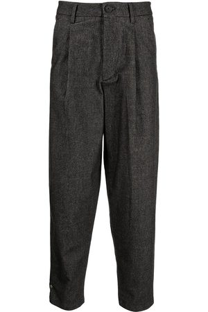 Armani Exchange Pleated high-rise trousers - Grey