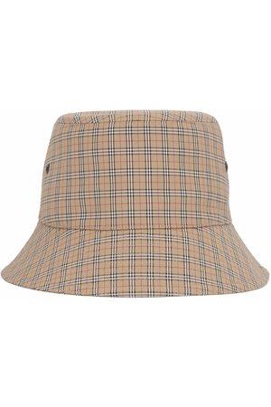 Burberry Men Hats - Technical check bucket hat - Neutrals