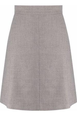 12 STOREEZ Women Mini Skirts - High-waisted A-line miniskirt - Grey