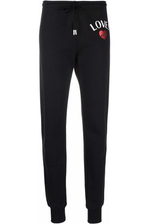 Love Moschino Women Sweatpants - Logo-print cotton track pants