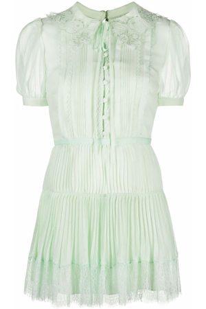 Self-Portrait Women Party Dresses - Chiffon pleated mini dress