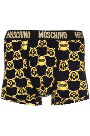 Moschino Men Boxer Shorts - Double Question Mark logo-waistband boxers