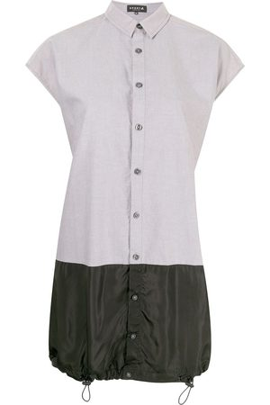 AGNÈS B. Women Casual Dresses - Panelled mini shirt dress - Grey