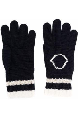 Moncler Enfant Stripe-trimmed virgin wool gloves