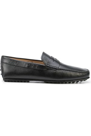 Tod's Men Loafers - Grained leather penny loafers