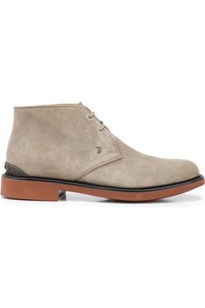 Tod's Men Ankle Boots - Almond-toe lace-up ankle boots - Grey