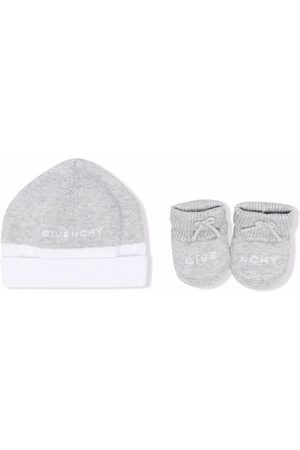 Givenchy Hats - Logo-embroidered hat set - Grey