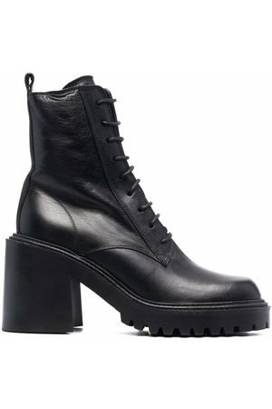 vic matiè Women Ankle Boots - Lace-up leather ankle boots