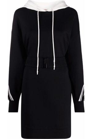 Twin-Set Two-tone hoodie dress