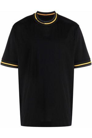 Fendi Men T-shirts - Contrast trim cotton T-shirt
