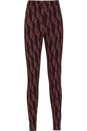 Prada Patterned-jacquard high-waisted leggings