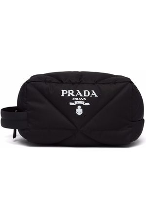 Prada Logo-print quilted wash bag