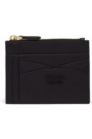 Prada Women Wallets - Logo-plaque zip-fastening purse