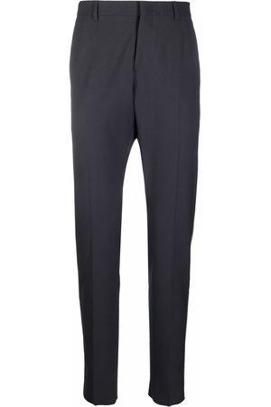 VALENTINO Men Formal Pants - Stripe-detail tailored trousers - Grey