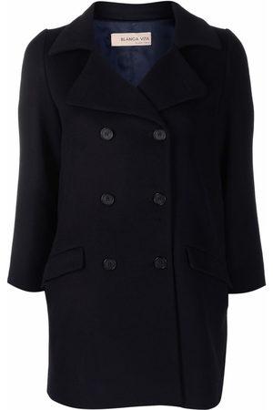 BLANCA Women Coats - Crop-sleeve double-breasted coat