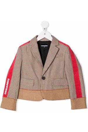Dsquared2 Side-stripe print jacket - Neutrals