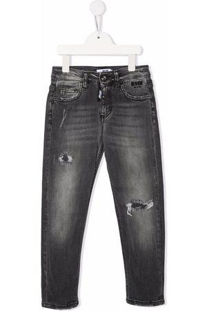 Msgm Skinny-cut grey-wash jeans
