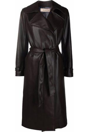 BLANCA Leather-look trench coat