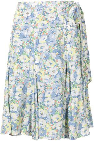 Polo Ralph Lauren Women Printed Skirts - Floral-print wrap skirt