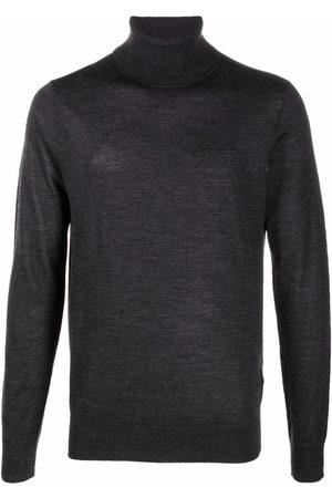 BOSS Men Turtlenecks - Roll-neck knit jumper - Grey
