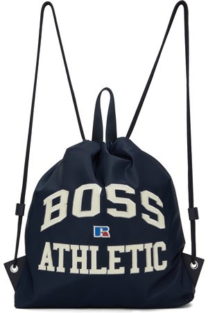 Boss Men Luggage - Navy Russell Athletic Edition Drawstring Backpack