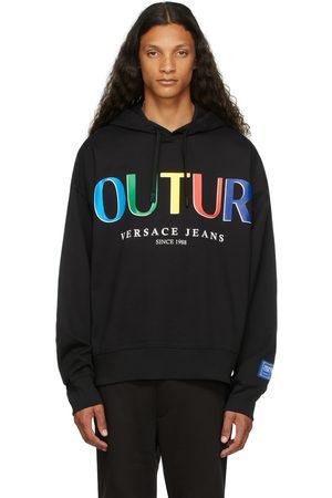 VERSACE Black & Multicolor Logo Hoodie