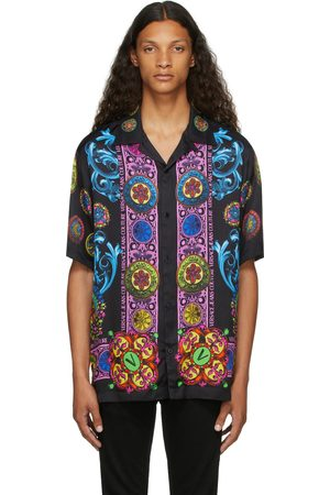 Versace Jeans Couture Black Bowling Short Sleeve Shirt