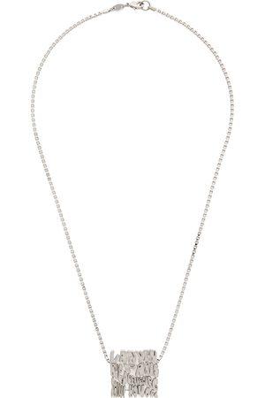 Lanvin Men Necklaces - Silver Short Wave Necklace